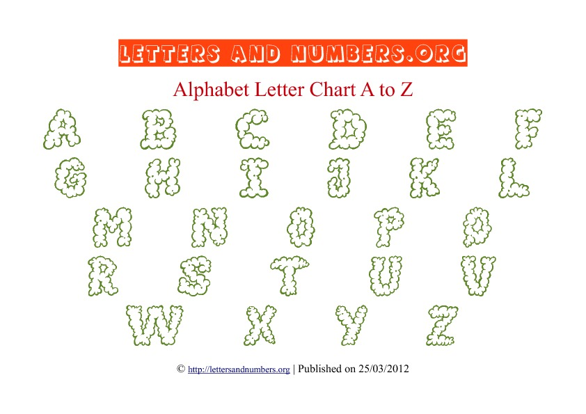 Printable Alphabet Letter Chart Green