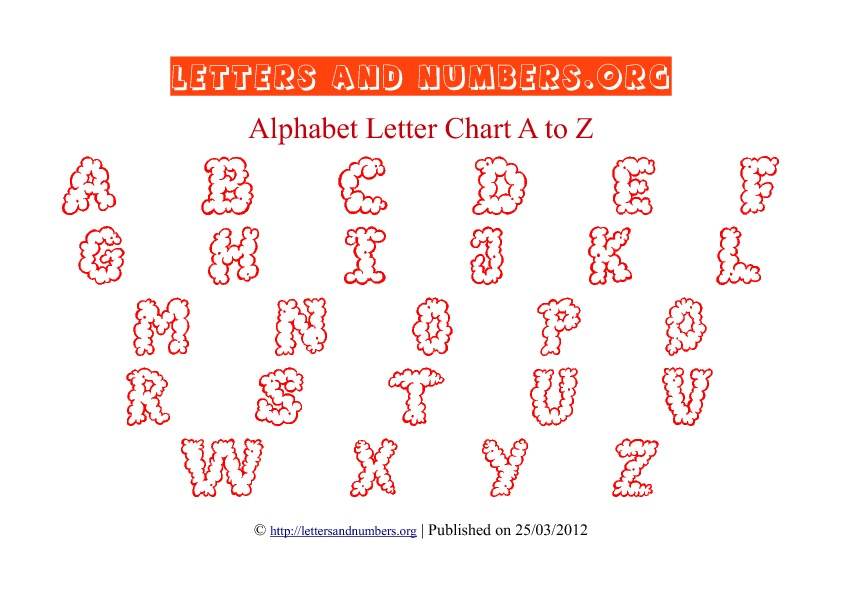 Printable Alphabet Letter Chart Red