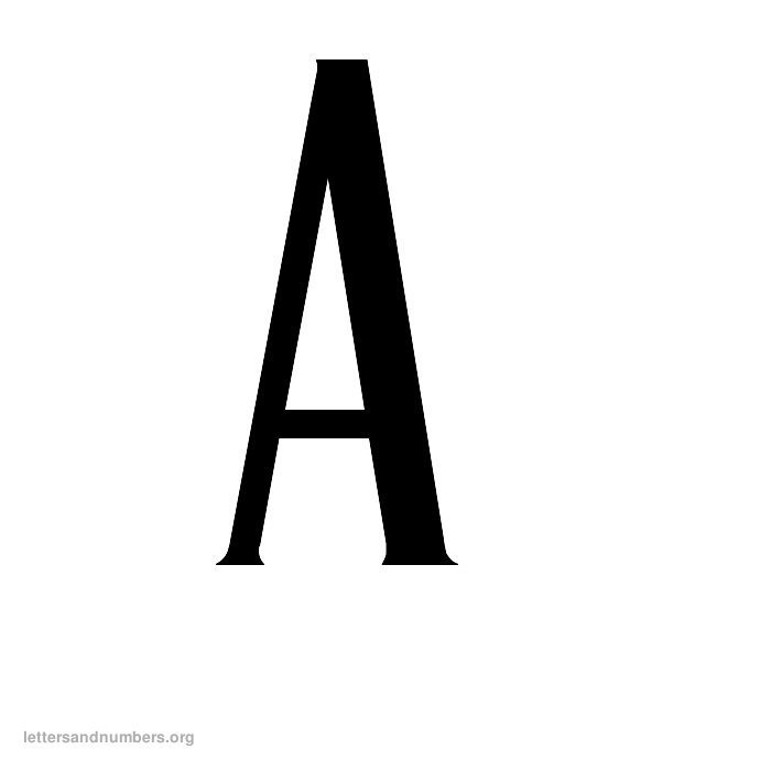 A-Z Antique Letters