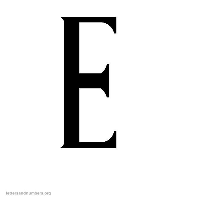 Antique Letter E