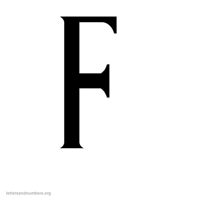 Antique Letter F