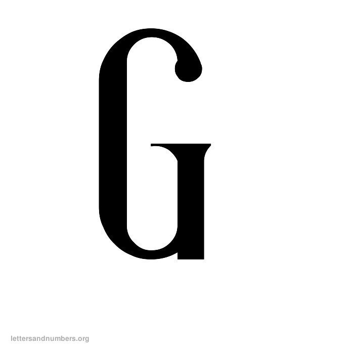 Antique Letter G