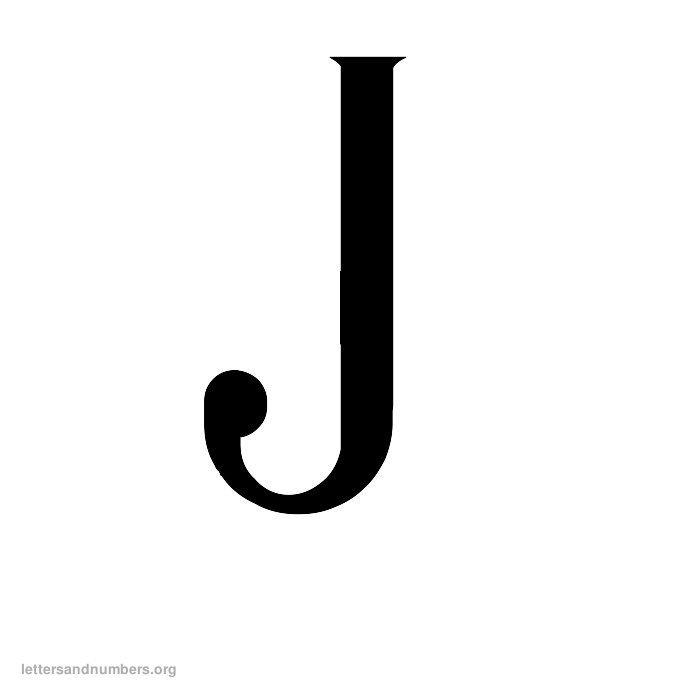 Antique Letter J