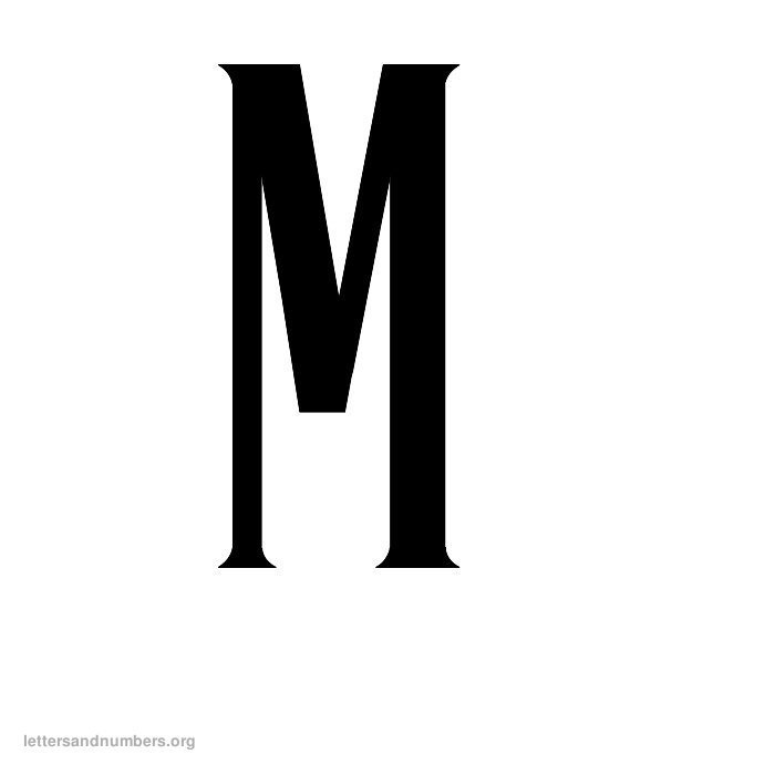 Antique Letter M