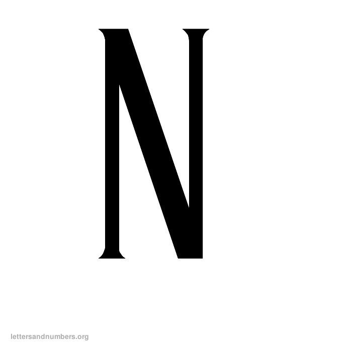 Antique Letter N