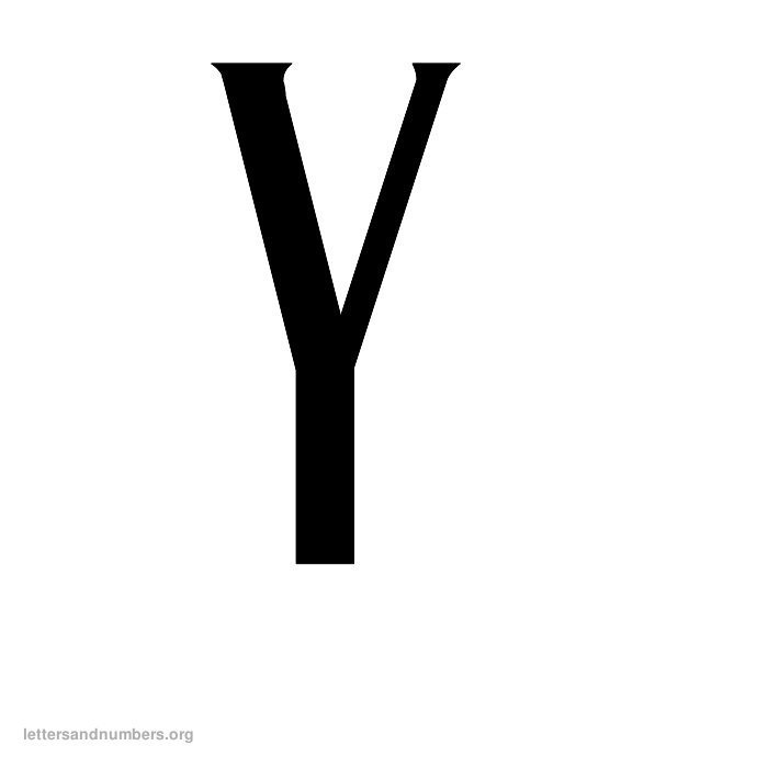 Antique Letter Y