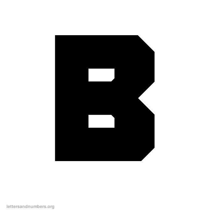 Printable A-Z Block Letters | Letters and Numbers Org