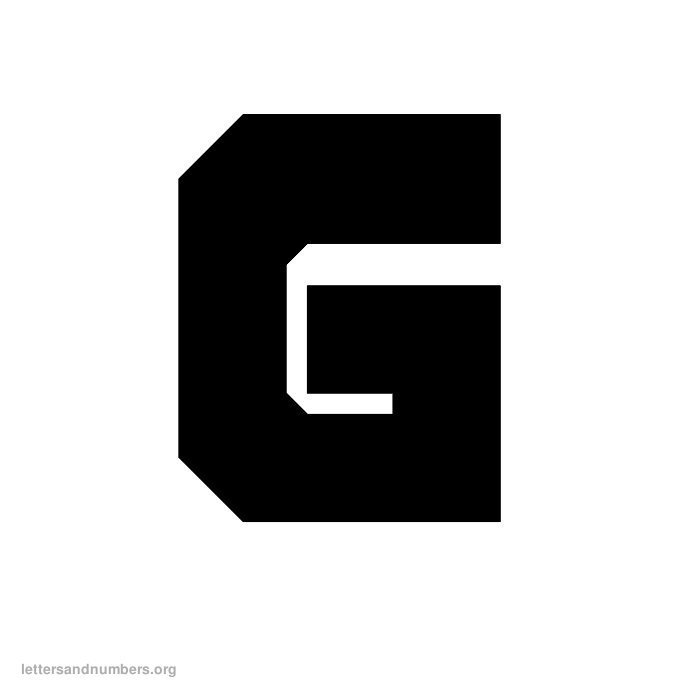block-letter-g O Block Letters Template on format word, style business, printable wooden,