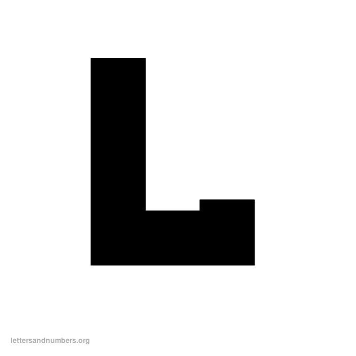 photo relating to Printable Block Letters titled Printable A-Z Block Letters Letters and Quantities Org
