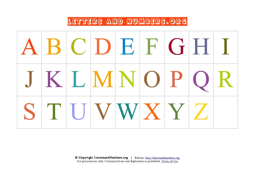 Selective image intended for alphabet chart printable pdf