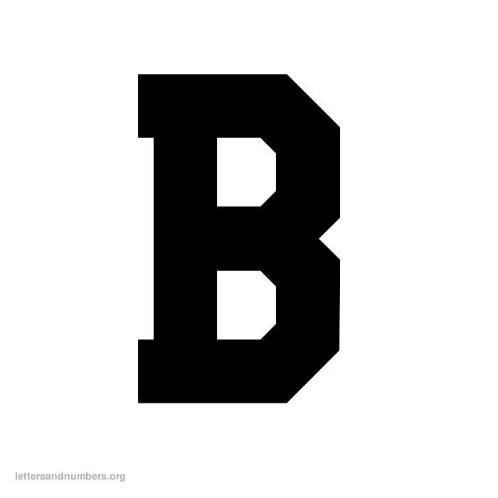 Printable A-Z Varsity Letters   Letters and Numbers Org