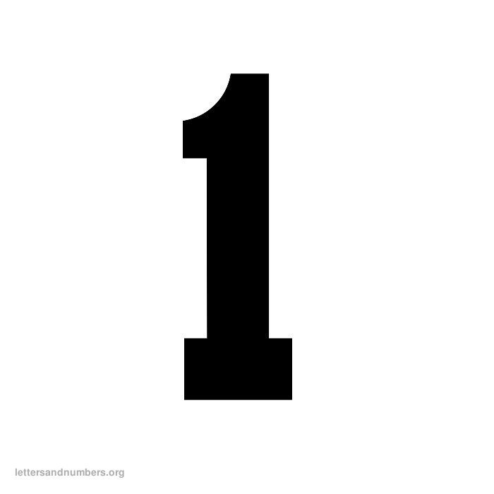 It's just a photo of Versatile Number 1 Printable