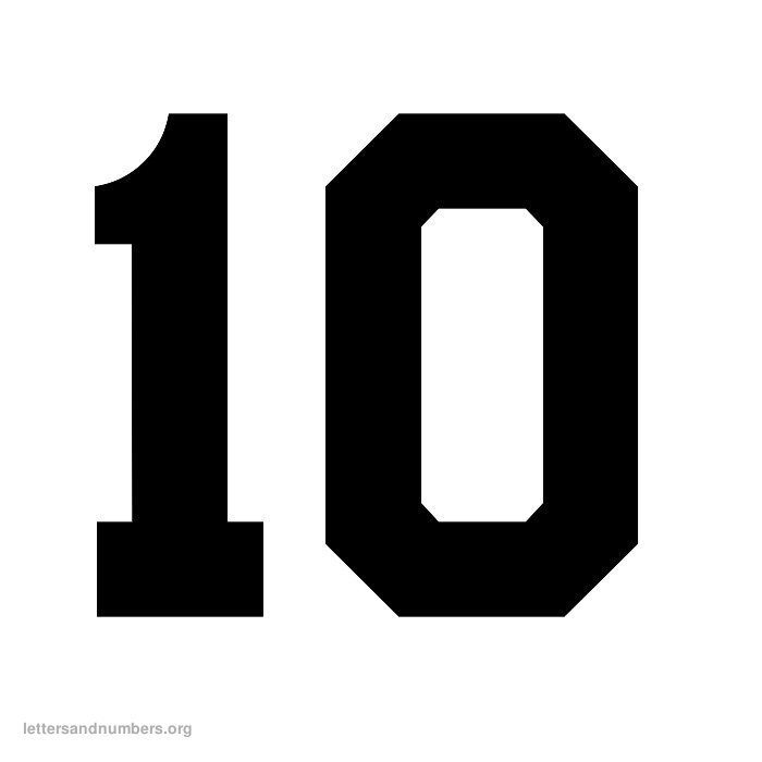 image about Printable Numbers 1-10 Stencils named Printable Varsity Quantities 1 in the direction of 50 Letters and Figures Org