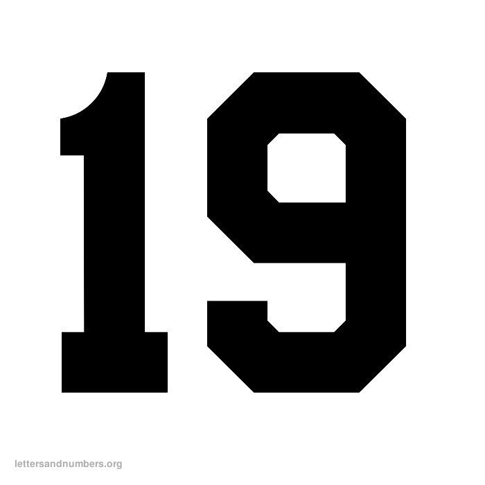 Printable Varsity Numbers 1 to 50 | Letters and Numbers Org
