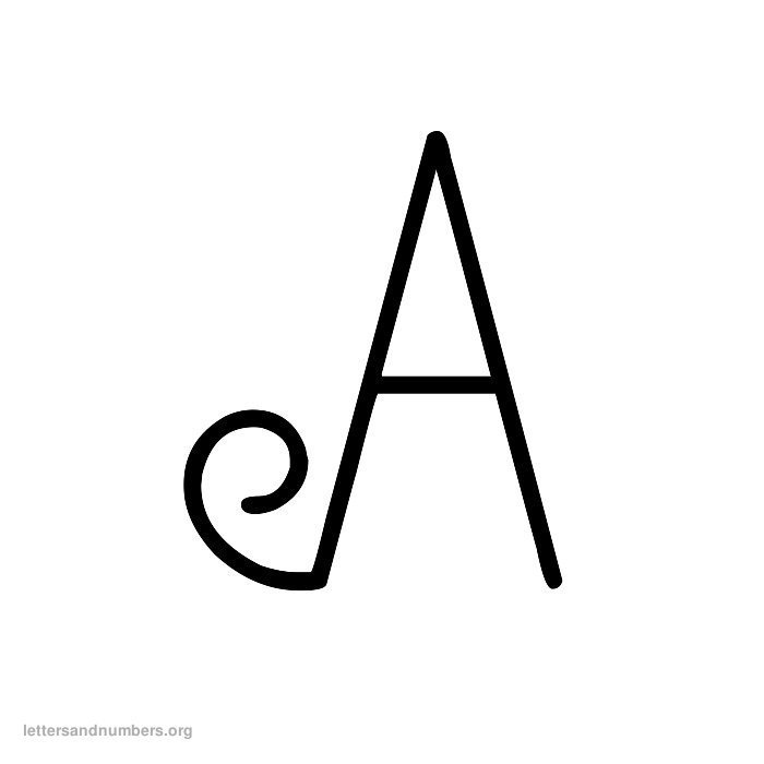A-Z Curly Letters