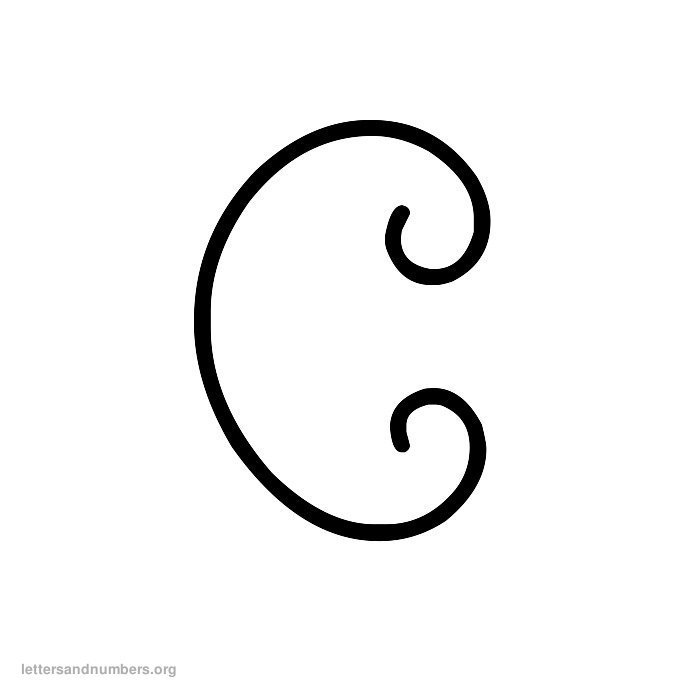 Curly Letter C