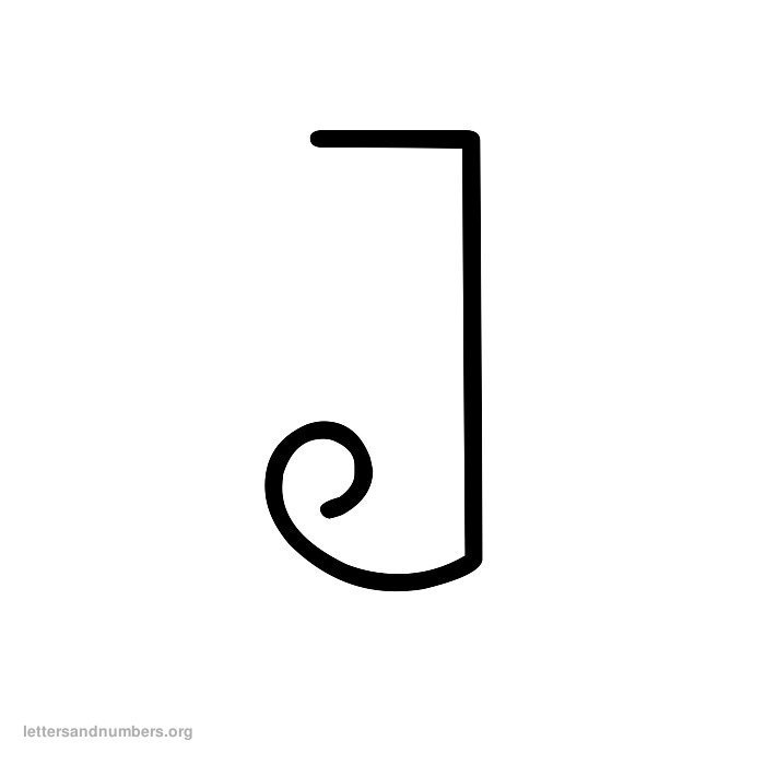 Curly Letter J