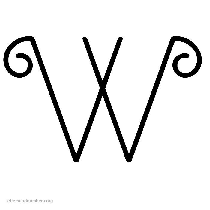 Curly Letter W
