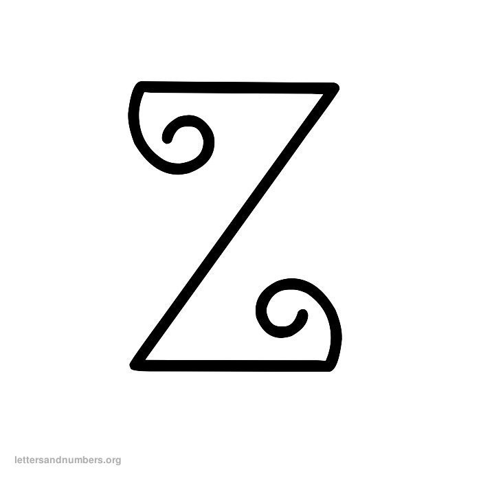 Curly Letter Z