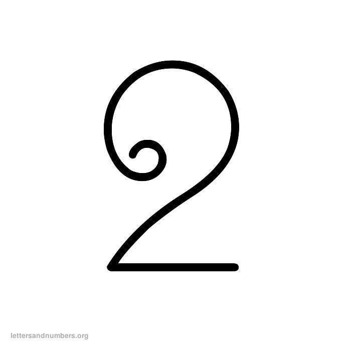 Printable Curly Numbers 1 to 50 | Letters and Numbers Org