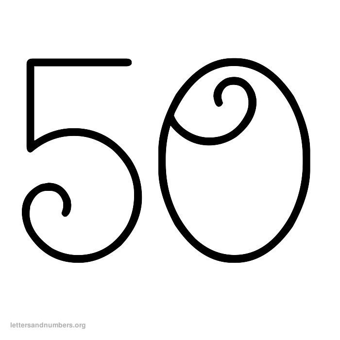 1-50 Curly numbers