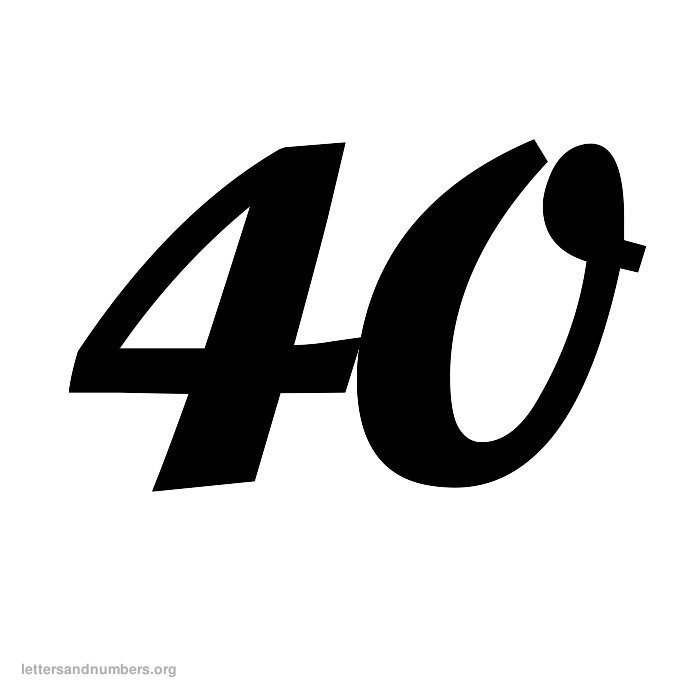 Printable Cursive Numbers 1 to 50 | Letters and Numbers Org