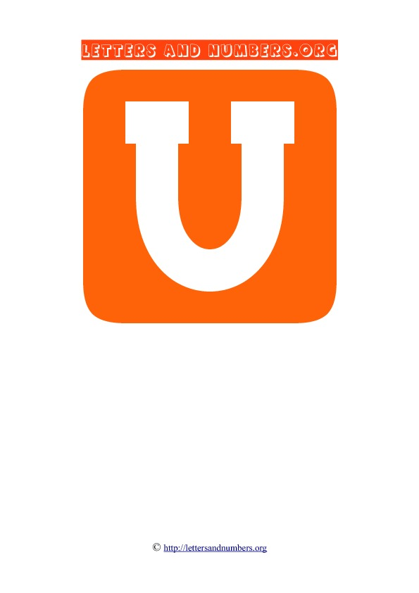PDF Block Letter Flashcards U