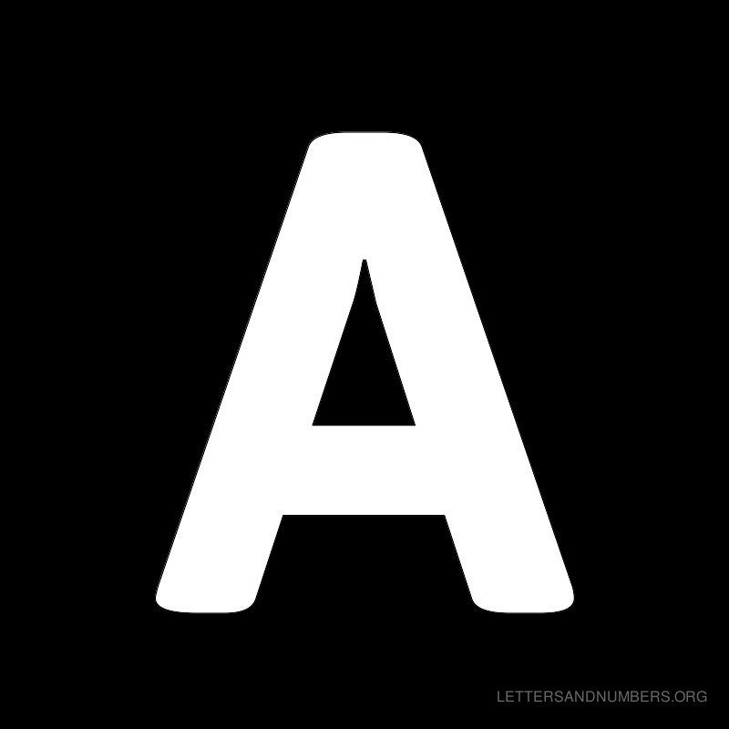 Free Alphabet Letters A To Z Black Letters And Numbers Org