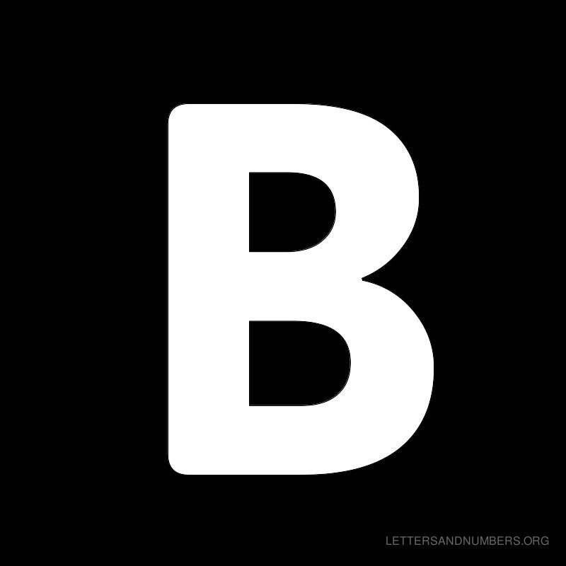 Black Background Letter B