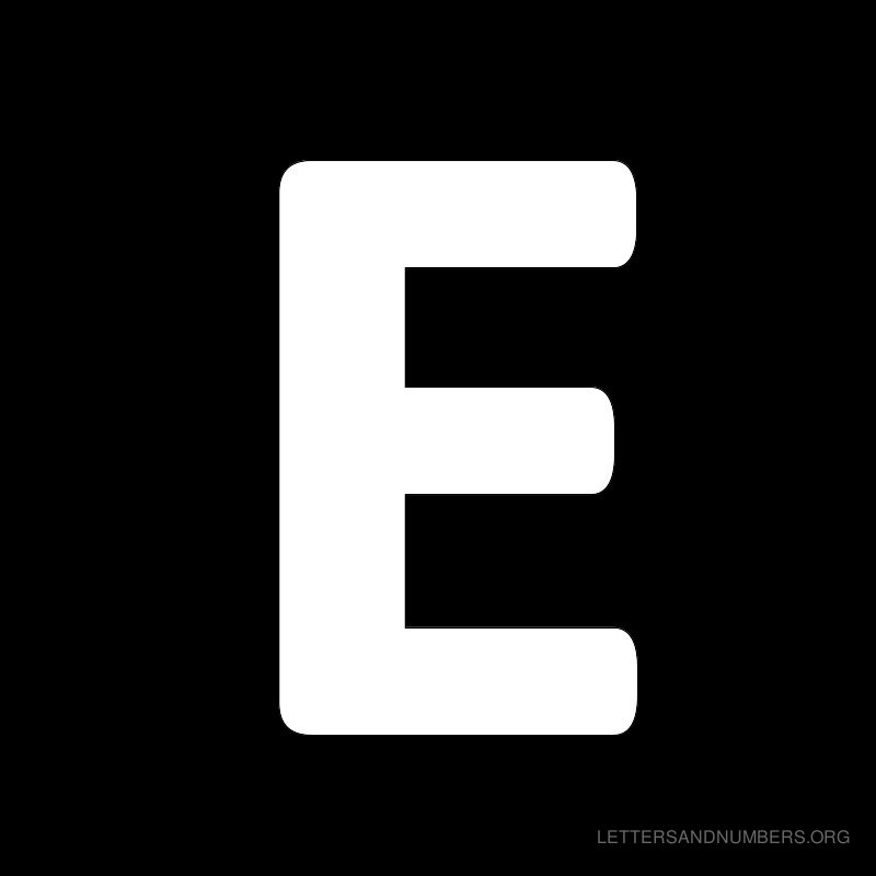 Black Background Letter E