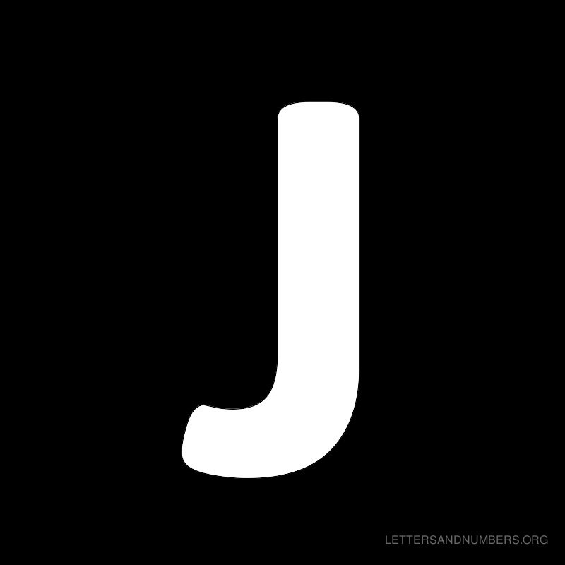 Black Background Letter J