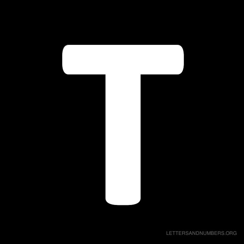Black Background Letter T
