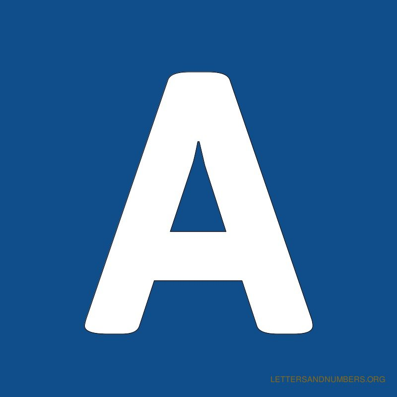 Blue Background Letter A