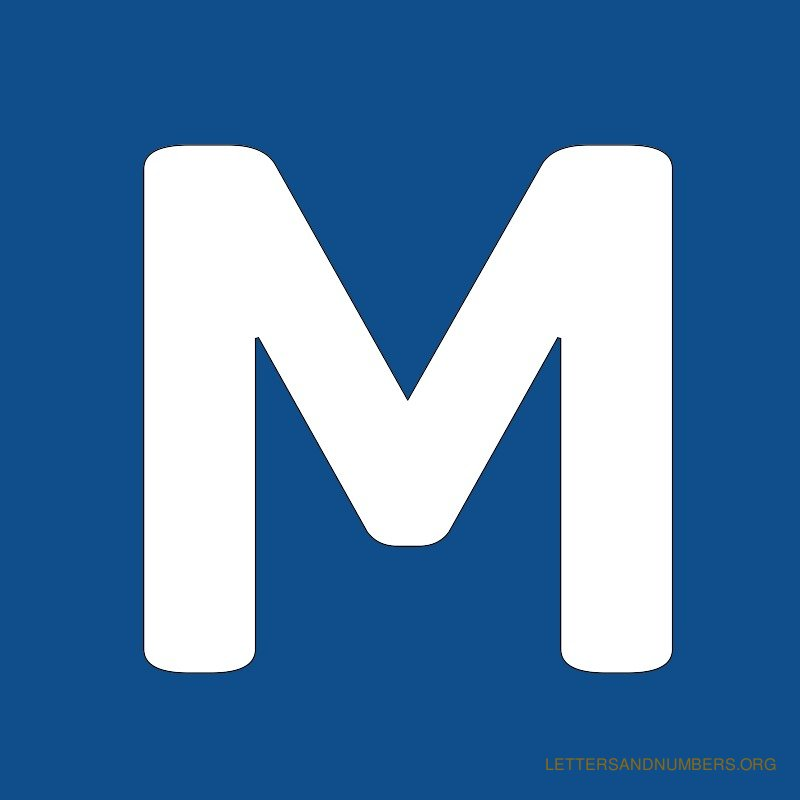 Blue Background Letter M