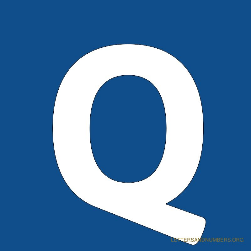 Blue Background Letter Q