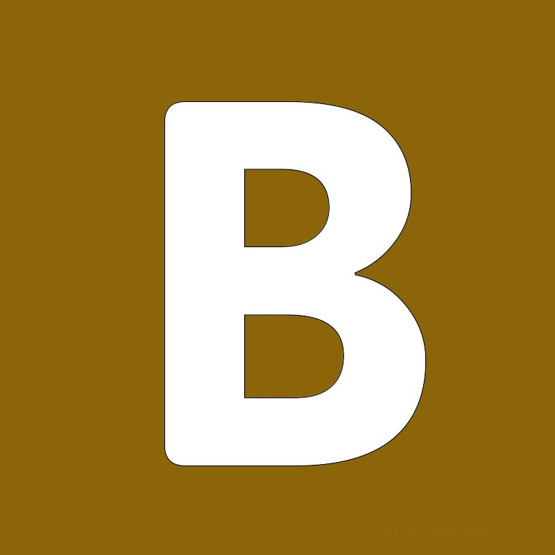 Gold Background Letter B