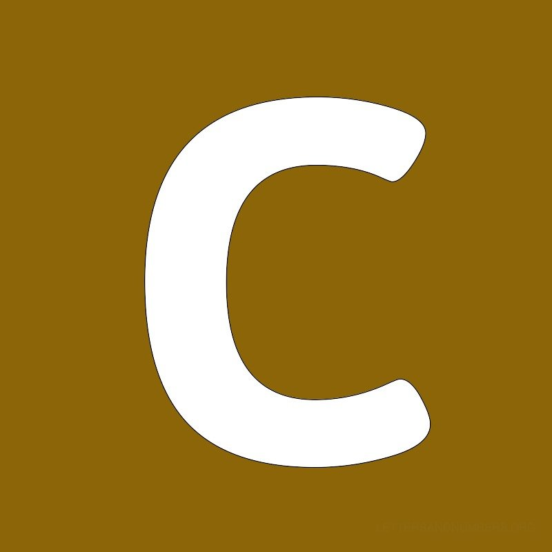 Gold Background Letter C