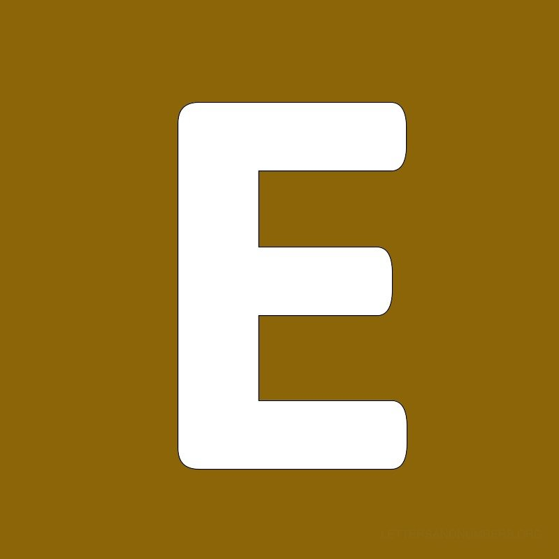 Gold Background Letter E