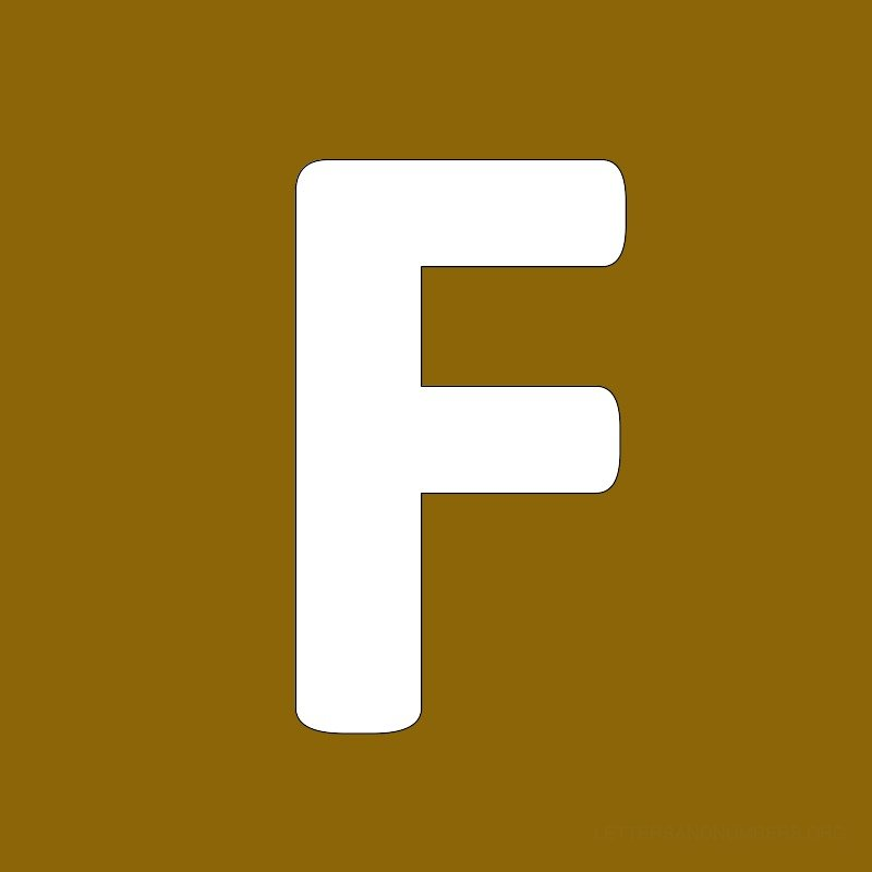 Gold Background Letter F