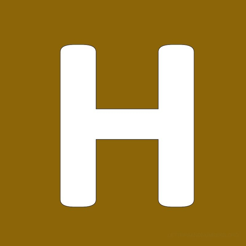 Gold Background Letter H