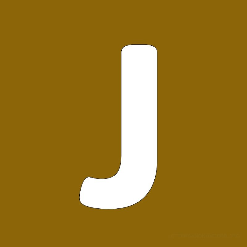 Gold Background Letter J