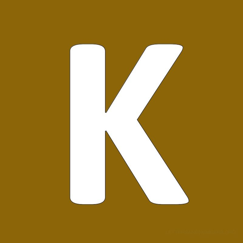 Gold Background Letter K