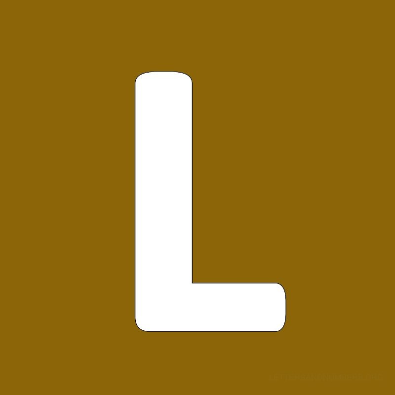Gold Background Letter L
