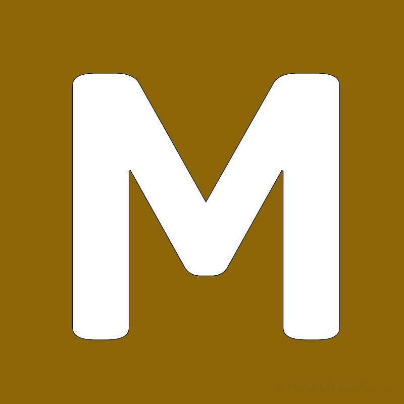 Gold Background Letter M