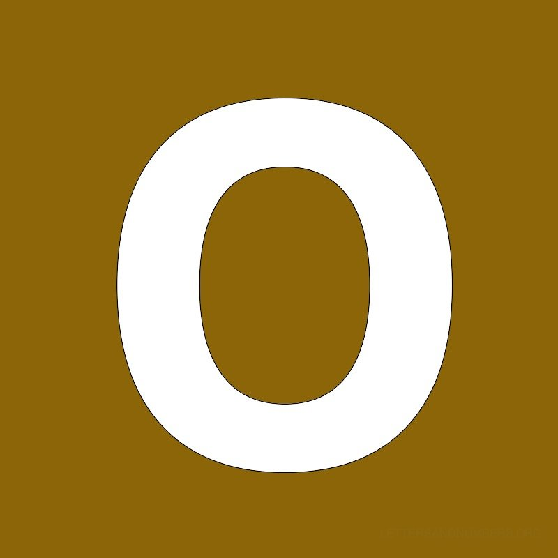 Gold Background Letter O