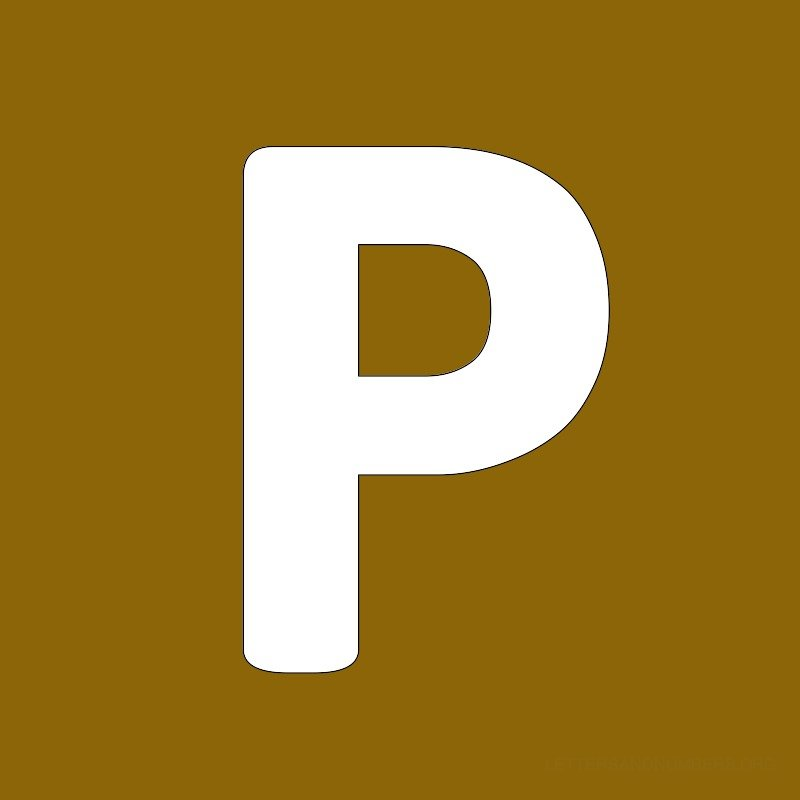 Gold Background Letter P