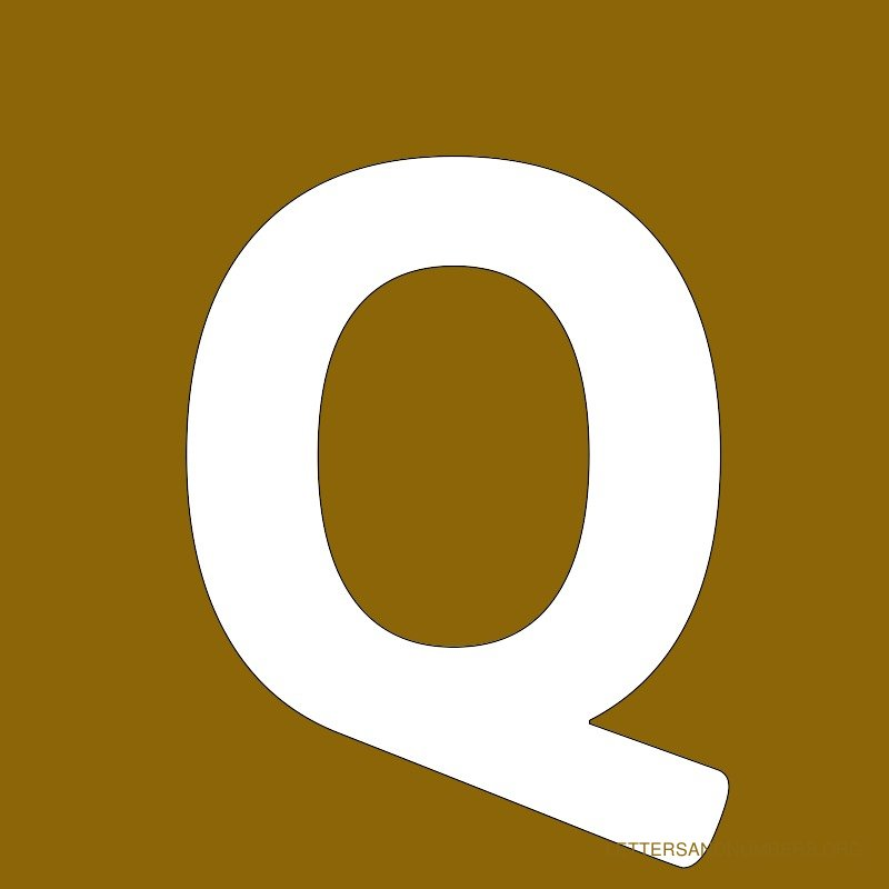 Gold Background Letter Q