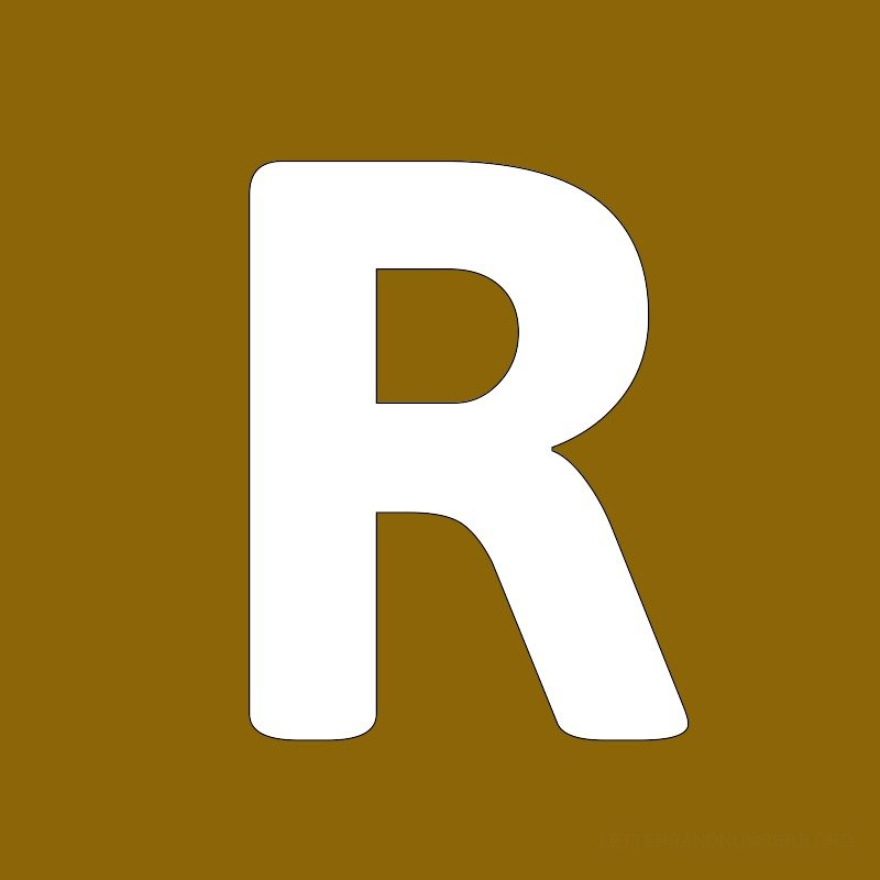 Gold Background Letter R