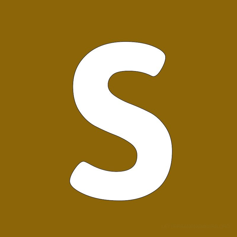 Gold Background Letter S