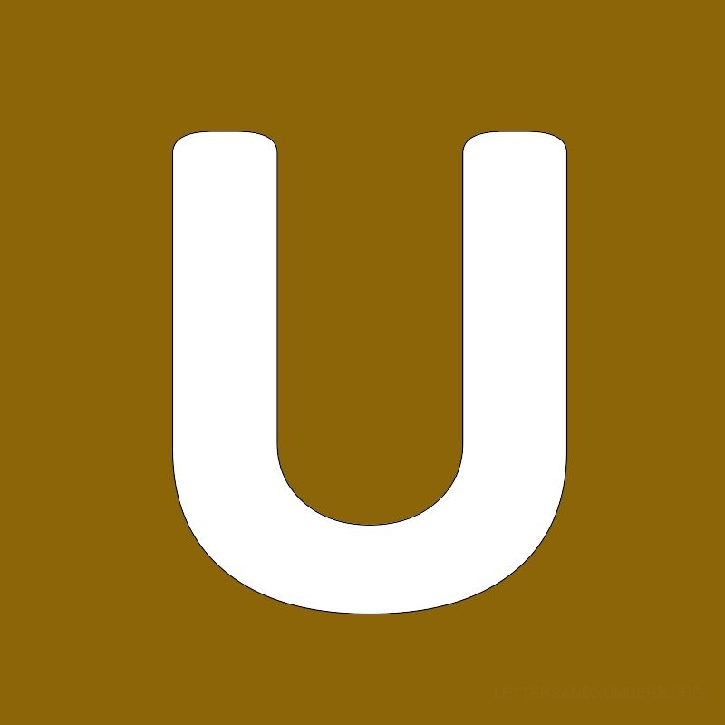 Gold Background Letter U